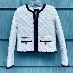 Juicy Couture White quilted puffer jacket XS/S